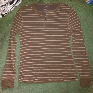 On The Byas Brown Long Sleeve Shirt